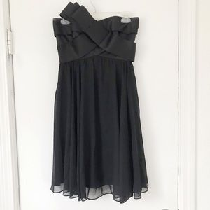 JS Collections Black Strapless Cocktail Dress